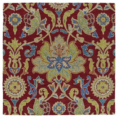 Barkell Red/Green Area Rug Rug Size: Square 59