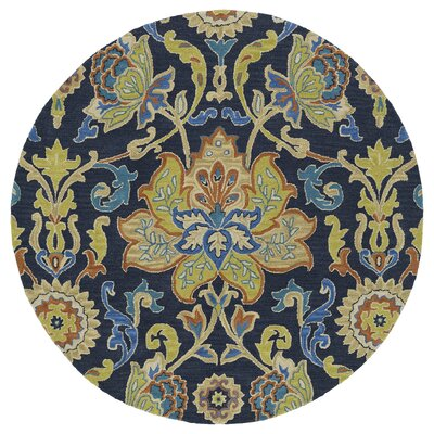 Barkell Blue/Green Area Rug Rug Size: Round 59