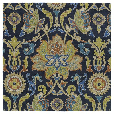 Barkell Blue/Green Area Rug Rug Size: Square 59