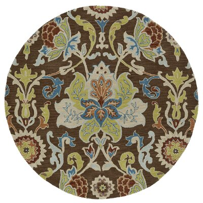 Barkell Hand-Tufted Area Rug Rug Size: Round 3'9