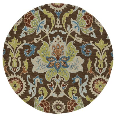 Barkell Hand-Tufted Area Rug Rug Size: Round 5'9