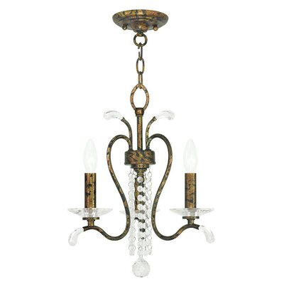 Cleere 3-Light Crystal Chandelier Finish: Venetian Golden Bronze