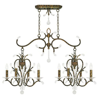 Cleere 8-Light Candle-Style Chandelier Color: Venetian Golden Bronze