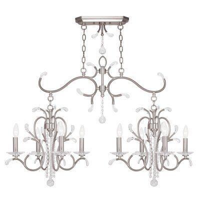 Cleere 8-Light Candle-Style Chandelier Finish: Brushed Nickel