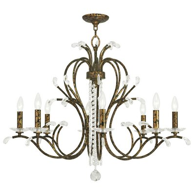 Cleere 8-Light Candle-Style Chandelier Finish: Venetian Golden Bronze
