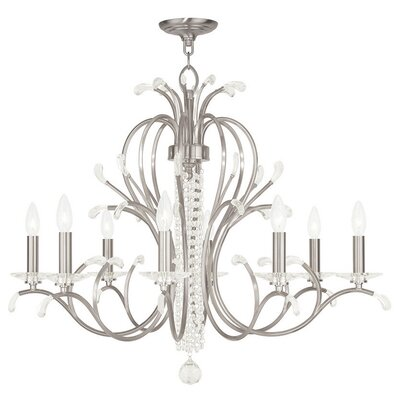 Cleere 8-Light Candle-Style Chandelier Color: Brushed Nickel