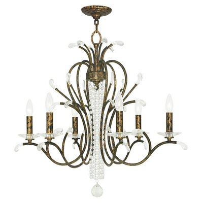 Cleere 6-Light Candle-Style Chandelier Finish: Venetian Golden Bronze