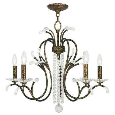 Cleere 5-Light Candle-Style Chandelier Finish: Venetian Golden Bronze