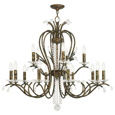 Cleere 15-Light Candle-Style Chandelier Color: Venetian Golden Bronze