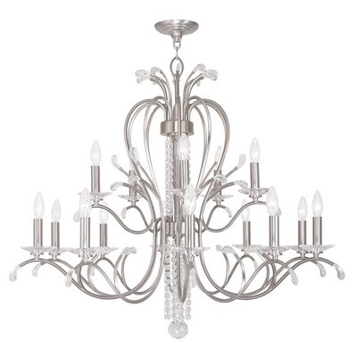 Cleere 15-Light Candle-Style Chandelier Finish: Brushed Nickel
