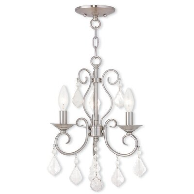 Dockray 3-Light Crystal Chandelier Color: Brushed Nickel