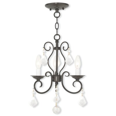 Dockray 3-Light Crystal Chandelier Color: English Bronze