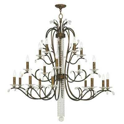 Cleere 20-Light Candle-Style Chandelier Finish: Venetian Golden Bronze