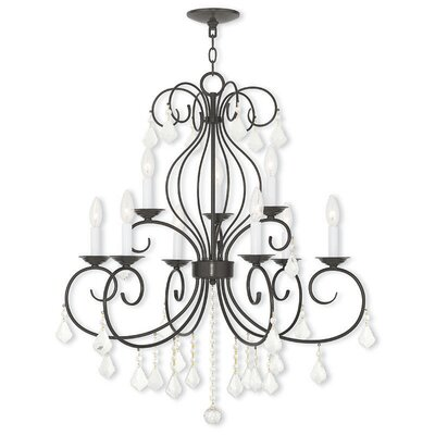Dockray 9-Light Crystal Chandelier Finish: English Bronze