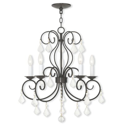 Dockray 5-Light Crystal Chandelier Color: English Bronze
