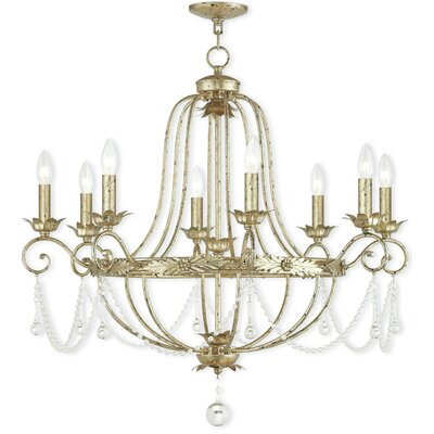 Cargan 8-Light Candle-Style Chandelier