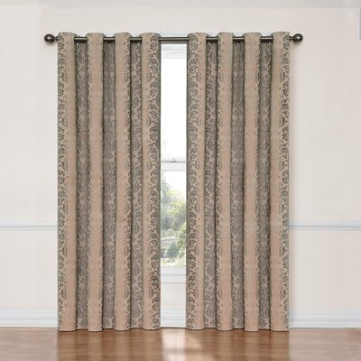 Balnamore Blackout Single Curtain Panel Color: Linen
