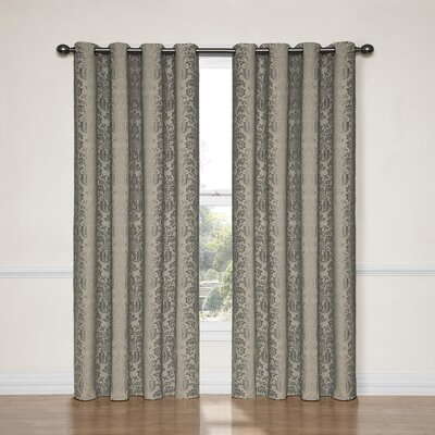 Balnamore Blackout Single Curtain Panel Color: Black