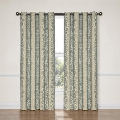 Balnamore Blackout Single Curtain Panel Color: Smokey Blue