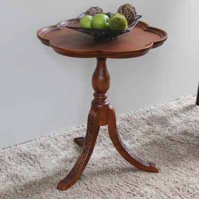 Barron Hand Carved Wooden End Table