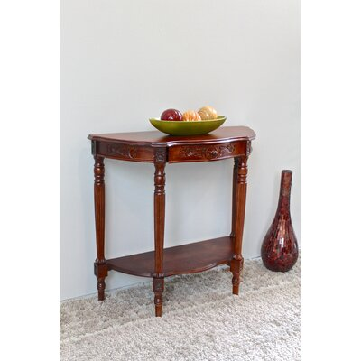 Barron Hand Carved Half Moon Console Table