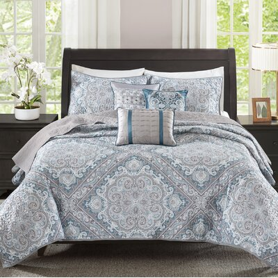Barris 6 Piece Coverlet Set Size: King/California King, Color: Blue