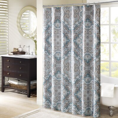 Barris Shower Curtain Color: Blue