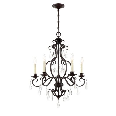 Barnish 5-Light Candle-Style Chandelier