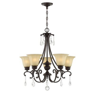 Barnwell 5 Light Shaded Chandelier