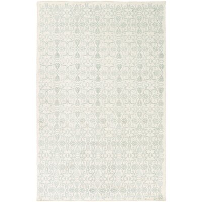Barret Light Gray/Ivory Area Rug Rug Size: 6 x 9