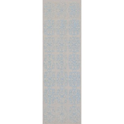 Barren Blue Area Rug Rug Size: Runner 26 x 8