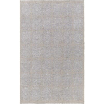 Barret Hand-Woven Gray Area Rug Rug Size: 43 x 62