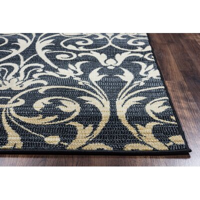 Bartlette Black Area Rug Rug Size: 710 x 1010