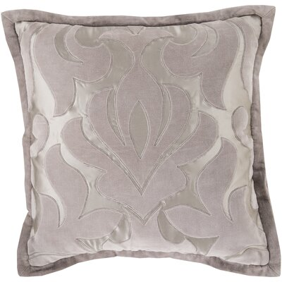 Bayly Throw Pillow Cover Color: GrayNeutral, Size: 20 H x 20 W x 1 D