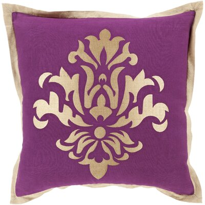 Caledonia 100% Linen Throw Pillow Cover Size: 18 H x 18 W x 0.25 D, Color: PurpleNeutral