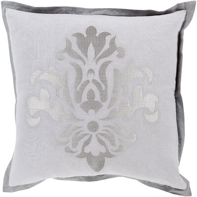 Caledonia 100% Linen Throw Pillow Cover Size: 18 H x 18 W x 0.25 D, Color: Gray