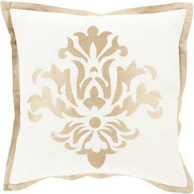 Caledonia 100% Linen Throw Pillow Cover Size: 18 H x 18 W x 0.25 D, Color: YellowNeutral