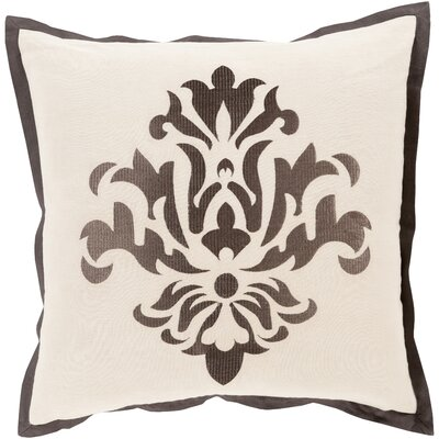Caledonia 100% Linen Throw Pillow Cover Size: 18 H x 18 W x 0.25 D, Color: GrayNeutral