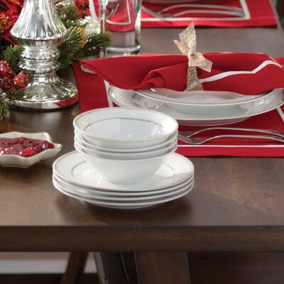 Racconigi Porcelain 24 Piece Dinnerware Set