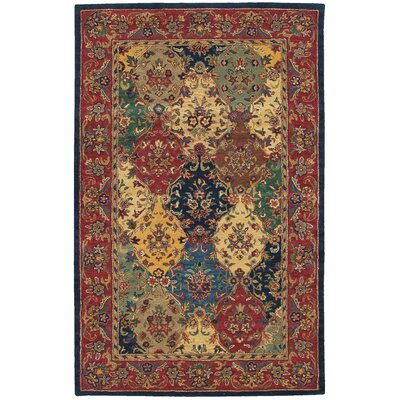Barrick Hand-Woven Wool Garnet Red/Beige Area Rug Rug Size: Rectangle 36 x 56
