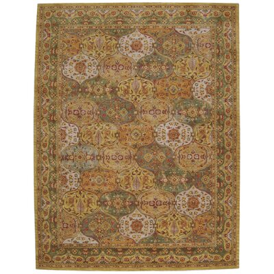 Barrick Green/Beige Area Rug Rug Size: Rectangle 5 x 8