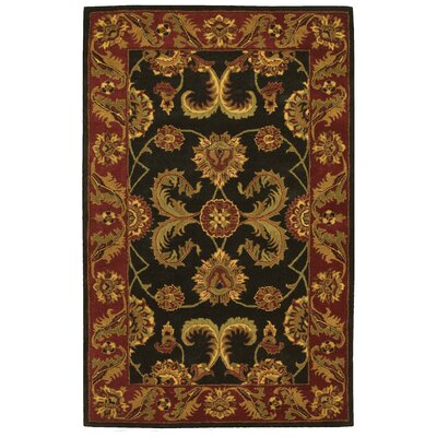 Barrick Black/Brown Area Rug Rug Size: 5 x 8