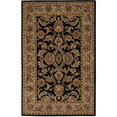 Barrick Black/Brown Area Rug Rug Size: 36 x 56