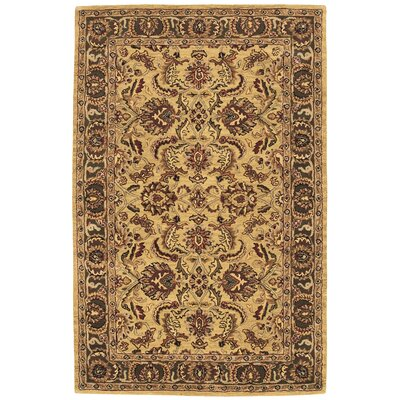 Barrick Hand-Tufted Gold Area Rug Rug Size: 5 x 8
