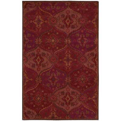 Barrick Handmade Red Area Rug Rug Size: Rectangle 36 x 56