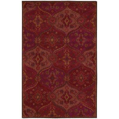 Barrick Handmade Red Area Rug Rug Size: 5 x 8