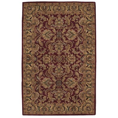 Barrick Handmade Burgundy/Brown Area Rug Rug Size: 5 x 8