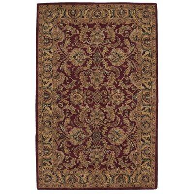 Barrick Handmade Burgundy/Brown Area Rug Rug Size: 36 x 56