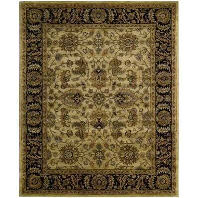 Bassham Hand-Tufted Light Gold Area Rug Rug Size: 83 x 116