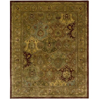 Bassham Brown Wool Hand Woven Area Rug Rug Size: 56 x 86